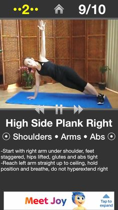 High side plank right