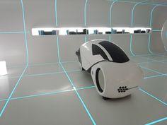 TRON designs Corian® - designboom | architecture Spaceship Interior, Futuristic Interior, Futuristic Design, Futuristic Architecture, Tron Light Cycle, Laser Tag, Tron Legacy, Showroom Design, Exhibition