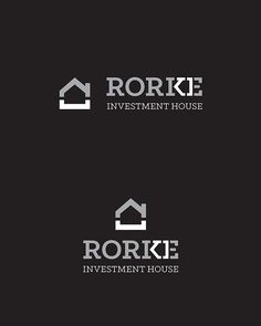 Rorke Investment House Logo dzintra spradzenko dspradzenko grafika I love how they have used a snippet of the text to create this logo. It is really effective and does relate to the business really well. The line use is bold, making it stand out. Typography Logo, Logo Branding, Branding Design, Logo Design Inspiration, Icon Design, Logo 3d, Property Logo, Investment House, Building Logo
