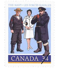 1985 Canadian Navy Stamp