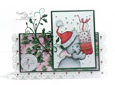 Bella with Gifts by Wild Rose Studio