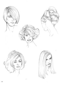 Trendy fashion design sketches hair how to draw ideas Fashion Design Sketchbook, Fashion Design Drawings, Fashion Sketches, Fashion Illustration Hair, Fashion Figure Drawing, Fashion Figures, Fashion Figure Templates, Fashion Art, Trendy Fashion