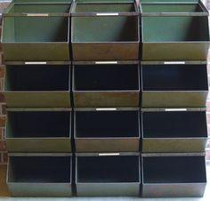 extra large industrial metal stackable storage bins - Industrial Storage Bins