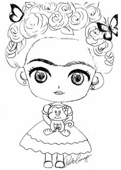 Frida Encaustic Painting, Fabric Painting, Embroidery Art, Embroidery Patterns, Frida Kahlo Party Decoration, Painted Name Signs, Cinderella Art, Free Cartoons, Coloring Book Pages