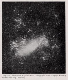 1946 star cloud original vintage celestial astronomy print - the greater magellanic cloud Star Cloud, Antique Prints, Black Pattern, Star Print, Rare Antique, Constellations, Astronomy, Clouds, Celestial