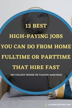 13 Best Work from Home Jobs that Hire Fast & Pay Good - Luster Lexicon Does making a liveable income online sound good to you? These are the 13 best work from home jobs that hire fast and pay good in Amazon Work From Home, Legit Work From Home, Work From Home Jobs, Work From Home Lyrics, Busy At Work, Earn Money From Home, Earn Money Online, Way To Make Money, Work From Home Companies
