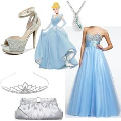 A fashion look from april 2013 featuring strapless prom dresses, heeled san Disney Prom Dresses, Cute Disney Outfits, Princess Prom Dresses, Strapless Prom Dresses, Prom Outfits, Grad Dresses, Homecoming Dresses, Evening Dresses, Movie Outfits