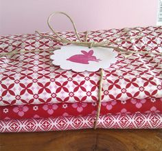 red fabric : cute idea for many things