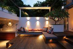 Small Urban Garden Design, Small Backyard Design, Modern Backyard, Backyard Landscaping, Backyard Ideas, Backyard Designs, Modern Deck, Landscaping Ideas, Modern City