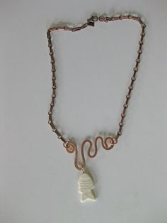 Copper wire jewelry.