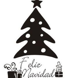 Vinilo de feliz navidad - Arbol