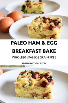 This paleo ham and egg breakfast bake makes busy mornings a breeze! #finishedwithsalt #breakfast #mealprep #makeahead #whole30 #easy #eatallweek #paleo #veggieloaded | finishedwithsalt.com