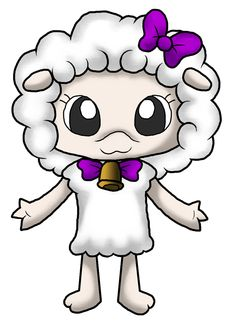 A friend of mine's character. I drew because she's always so nice and her sheep character is cute.