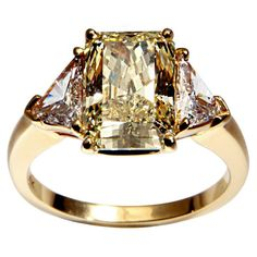 Cartier Canary Diamond Ring -- 60 Stunning Jewelry Pieces From Pinterest @styleestate
