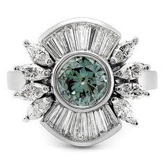 Retro Diamond Cocktail Ring