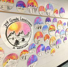 Cassie Stephens: In the Art Room: Top Ten Favorite Winter Art Lessons! Winter Art Projects, Art Projects For Teens, Toddler Art Projects, Art For Kids, Kids Art Class, Kid Art, Classroom Art Projects, School Art Projects, Art Classroom