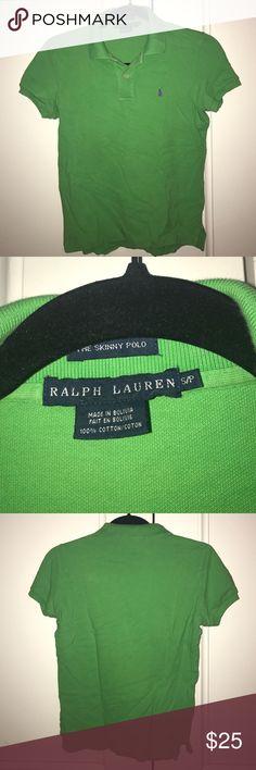Ralph Lauren skinny polo green with purple pony Ralph Lauren skinny polo green with purple pony Ralph Lauren Tops Tees - Short Sleeve