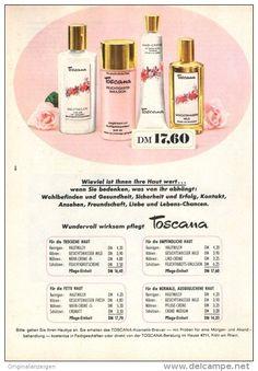 Original-Werbung/ Anzeige 1968 - TOSCANA KOSMETIK - ca. 120 x 170 m