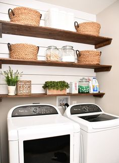 Budget Laundry Room Makeover - How to Nest for Less™