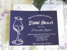Wine & Chocolate Rustic Vineyard Collection – Bridal Shower Invitation created by Above & Beyond – Custom Events & Stationery