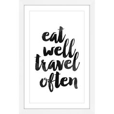 Marmont Hill Eat Well Travel Often Framed Painting Print - MH-DNTEL-78-WFP-18
