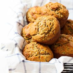 These Honey and Olive Oil Zucchini Muffins make an easy grab-and-go breakfast. #mediterraneandiet #healthyeating