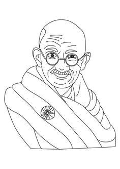 gandhi jayanti coloring page