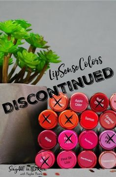 "Here is a list of all the Discontinued LipSense Colors.  It is updated often.  If you are looking for Limited Edition Colors or ""unicorns"" (discontinued colors) - there is a link to take you there.  #discontinued #lipsense #senegence #lipcolor #lipstick"