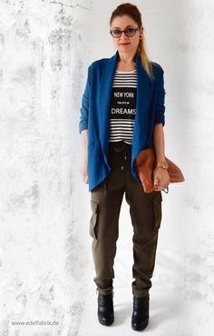 die EDELFABRIK | Mein Ü40 Blog für Mode und Beauty: Cargohose im Military-Style mit Streifenshirt und ...
