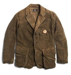 excellent qualities RRL Drucker Corduroy Sport Coat Smith Brown Sports Coats & Jackets & Suits & Blazers For Men Made from stretch cotton corduroy. Constructed with hunting jacket–inspired pockets. Finished with etched corozo buttons. Work Jackets, Men's Coats And Jackets, Outerwear Jackets, Corduroy Sport Coat, Corduroy Blazer, Rugged Style, Style Brut, Gents Fashion, Vest Outfits