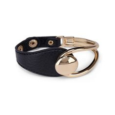 "Sole Society ""large loop leather bracelet"", $22.95"