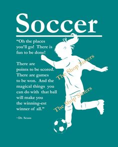Soccer Girl Print Personalize Silhouette by TheShopSisters on Etsy