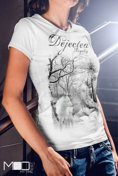 Ladies take a look at our cool#Dejected #Royalty #wolf #tee only @designbyhumans  http://www.designbyhumans.com/shop/t-shirt/women/dejected-royalty-wolf-design/60382/ available for only $24.00. This awesome design is also available as #cell #cases and #wall #prints. Get yours today. #tshirt #tees #clothing #apparel #fashion #design #designbyhumans #case #dbh #dbhtees #tshirt #tees #graphics #wolf #nature #white #lycan #trees #tshirts