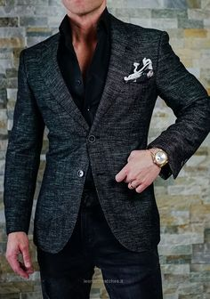Mens blazer Mens Fashion Blazer, Suit Fashion, Trendy Mens Fashion, Mens Fashion 2018, Fashion Clothes, Stylish Men, Men Casual, Casual Wear, Smart Casual