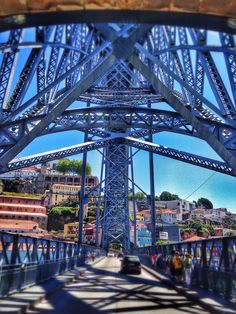 Beautiful Bridge at Porto, Portugal  Travel to Porto in Portugal to enjoy the architecture and beauty of the city.  --  Have a look at http://www.travelerguides.net