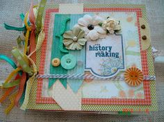 Scrapbooking by Phyllis: Premade Chipboard album *History in the Making*