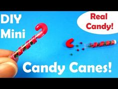 DIY Miniature M & M Candy Canes (w Real Candies Inside)! - Christmas Holiday Craft - YouTube