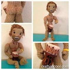 crocheted matthew mcconaughey- I seriously laughed outloud...ha,ha,ha...please don't buy me this.