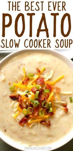 Loaded Baked Potato Soup Recipe - How to Make Slow Cooker Crock Pot Style Creamy Potato Soup