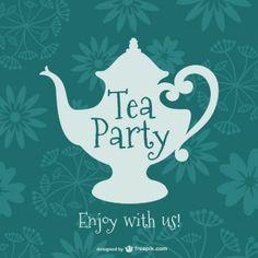 Vintage tea party design