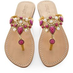Designer Clothes, Shoes & Bags for Women Strappy Sandals, Flat Sandals, Gladiator Sandals, Shoes Sandals, T Strap Flats, Jeweled Sandals, Palm Beach Sandals, Fashion Flats, Leather Flats