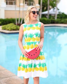 7cb41e78e5 Fresh Pineapple Fit-and-Flare Dress