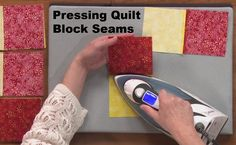 Quilters Need to Re-Learn! How to use an Iron! Pressing Quilting Seams is NOT like Ironing. 3 Videos
