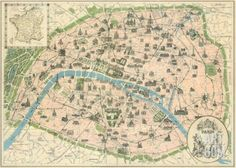 Vintage Paris Map Art Print. Save up to 40% for a limited time at Art.com.