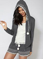 Fairisle hoodie Womens Pyjama Sets d862a3467