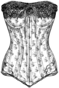 Inspiring picture black and white, corset, desenho, drawing, vintage. Find the picture to your taste! Clip Art Vintage, Images Vintage, Vintage Ephemera, Vintage Pictures, Etiquette Vintage, Foto Transfer, Vintage Corset, Paris Mode, Graphics Fairy