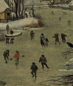 winter scene with bird trap/pieter bruegel the younger