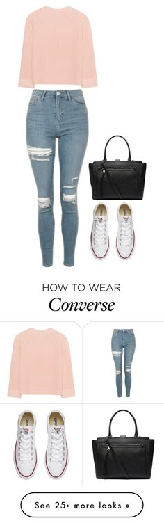 """""""Untitled #455"""" by morgan-sullivan on Polyvore featuring Topshop, iHeart, Converse and Witchery"""