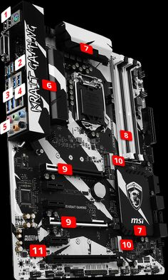 MSI Z270 KRAIT GAMING motherboard supports 7th Intel processors, DDR4-3866+ Memory, providing best virtual reality game experience without latency, reduces motion sickness