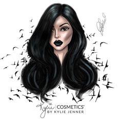 Kylie Jenner illustration by Ldochev (Lyubomir Dochev) Please help me tag Black Girl Art, Black Women Art, Kylie Jenner Drawing, Queen Drawing, Girly Drawings, Face Drawings, Cute Girl Drawing, Digital Art Girl, Dance Art